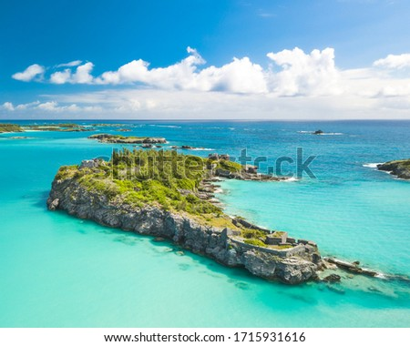 Castle Island from above, Bermuda. Сток-фото ©