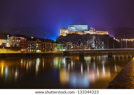 Castle Kufstein in Austria - architecture and travel background