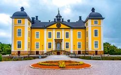 Castle mansion gothic façade building