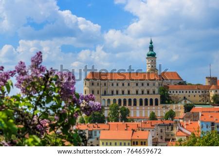 Castle Mikulov Zámek  Zdjęcia stock ©