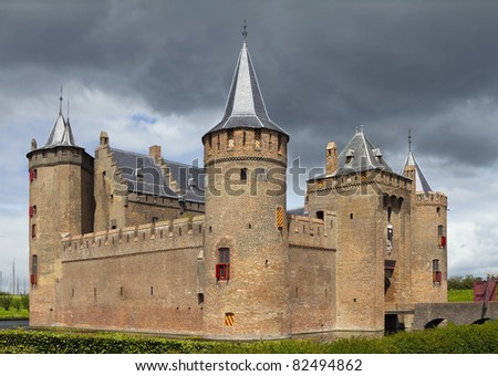 Castle Muiderslot was part of the Defence Line of Amsterdam