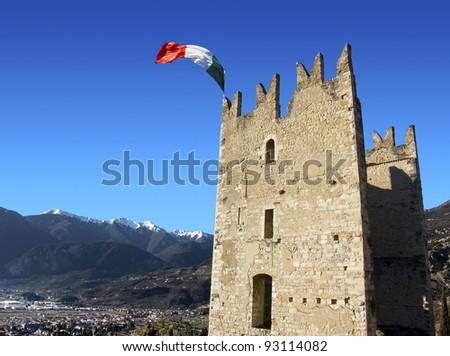 Castle of Arco / Castle of Arco in Italy - Garda Lake - Trento - Europe - stock photo