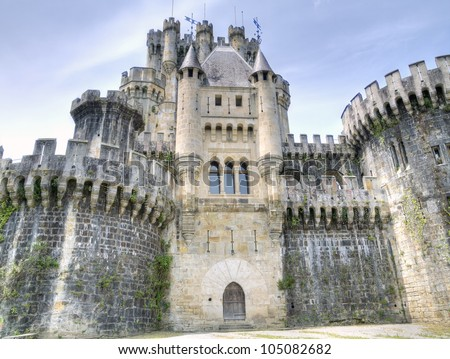 castle of Butron. Basque country, Spain