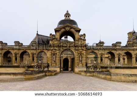 Castle of Chantilly, one of the famous chateau in France #1068614693