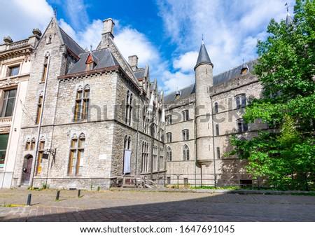 Castle of Gerald the Devil (Geeraard de Duivelsteen) on streets of Ghent old town, Belgium Stockfoto ©