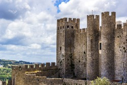 Castle of Obidos. Portugal. Obidos - famous tourist destination in Portugal for its distinguished architecture and history