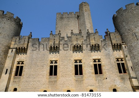 castle of Roquetaillade in Gironde