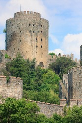 Castle of Rumeli guarding the Bosporus, Istanbul, Turkey