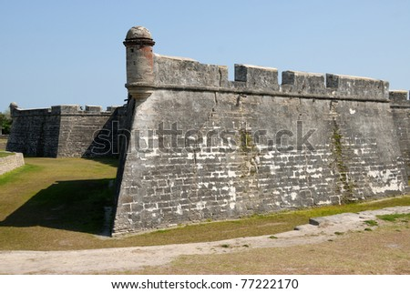 castle of san marcos at historic st. augustine florida usa