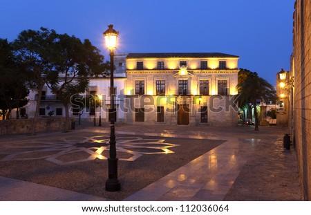Castle of San Marcos square in El Puerto de Santa Maria, Spain