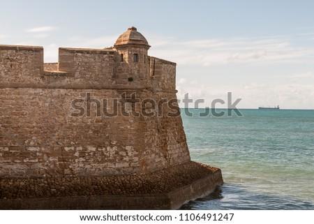 Castle of San Sebastian in Cádiz. Spain Foto stock ©