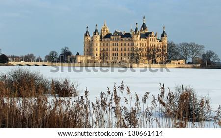 Castle of Schwerin in winter times