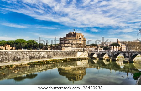 Castle of the Angels, Rome,. St Angelo