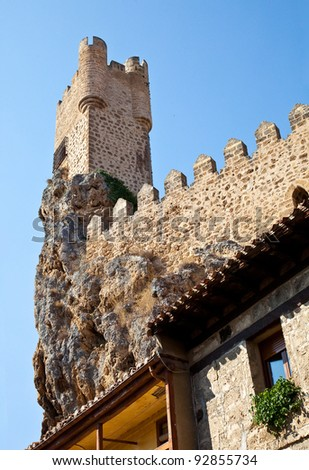 Castle of the city of Frias in Europe
