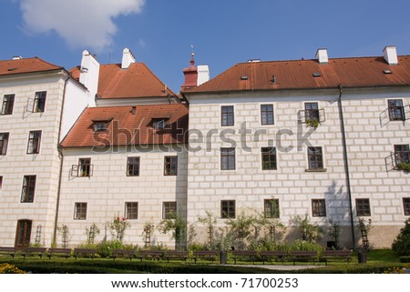 castle of the czech historical city Trebon