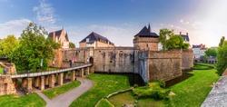 Castle of the Dukes of Brittany (Chateau des Ducs de Bretagne) in Nantes, France
