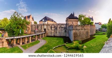 Castle of the Dukes of Brittany (Chateau des Ducs de Bretagne) in Nantes, France #1244619565