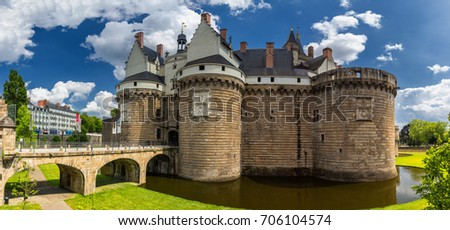Castle of the Dukes of Brittany (Chateau des Ducs de Bretagne) in Nantes, France
