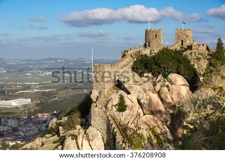Castle of the Moors. Sintra. Portugal. #376208908