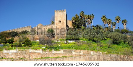 Castle of the Templars in Jerez de los Caballeros, a famous and monumental town of Badajoz province in Extremadura, Spain