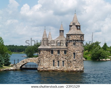 castle on a lake