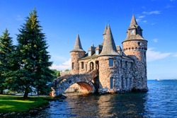 Castle on Heart Island, one of the Thousand Islands, New York state, USA