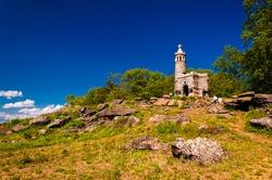 Castle on Little Round Top, in Gettysburg, Pennsylvania.