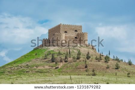 Castle on the high hill . photo view in Erbil, Kurdistan of Iraq