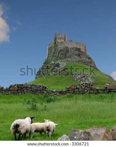 castle on the Holy Isle of Lindisfarne in Northumberland, England