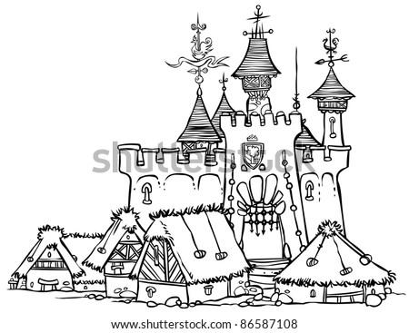 Castle Outline Illustration