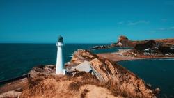 Castle point lighthouse, Wellington New Zealand
