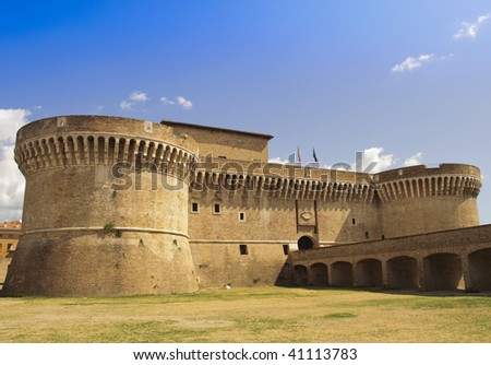 stock-photo-castle-rocca-roveresca-in-senigallia-italy-on-blue-sky-background-41113783.jpg
