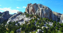Castle Rocks Idaho - Dramatic Jutting Rock Formation On Gray Granite Cliffs