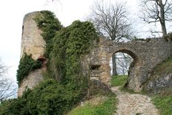 Castle ruins of Ferrette