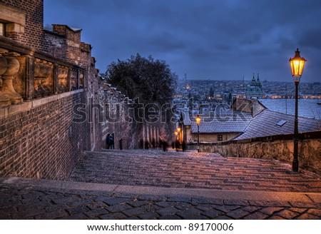 Castle Steps - Prague HDR