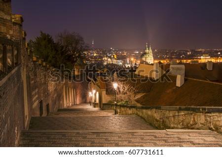 Castle steps / Zamecke schody / Prague / Czech republic Zdjęcia stock ©