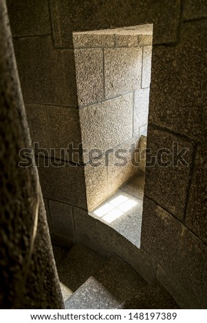 castle tower staircase