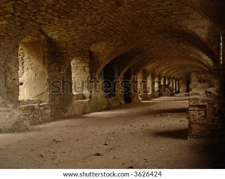 castle tunnel - stock photo
