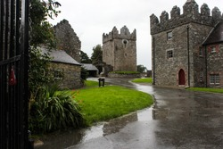 Castle Ward with rain and clouds, County Down, Northern Ireland