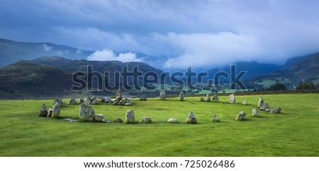 Castlerigg Stone Circle, Bronze Age prehistoric monument near Keswick, English Lake District #725026486