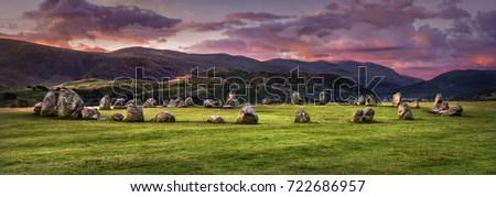 Castlerigg Stone Circle Located near Keswick in the English Lake District.