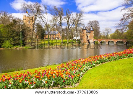 castles of Belgium -Groot-Bijgaarden with beautiful gardens