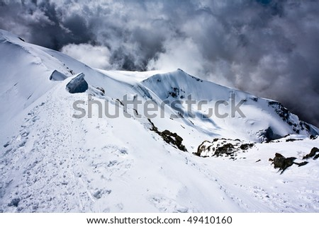 Castor snow ridge - stock photo