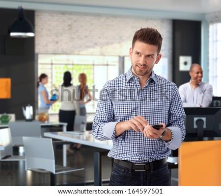 People in trendy office