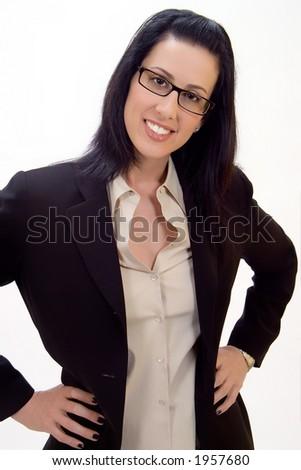 Casual corporate headshot of female executive smiling