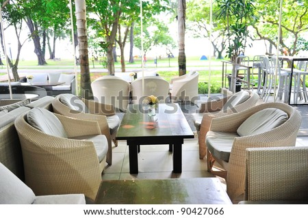 Casual dining area in a park
