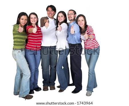 grupo ocasional - polegares acima - branco do excesso