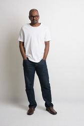 casual indian male full length with jeans