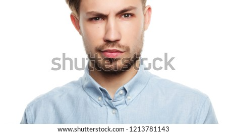 Casual man posing casually over white background #1213781143