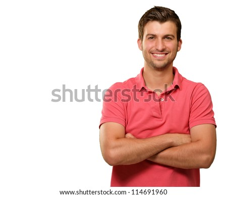 Casual Man with Arms Crossed isolated on white background